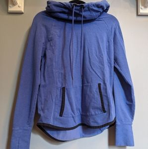 Athleta Blue Sentry Cowl Neck Hoodie